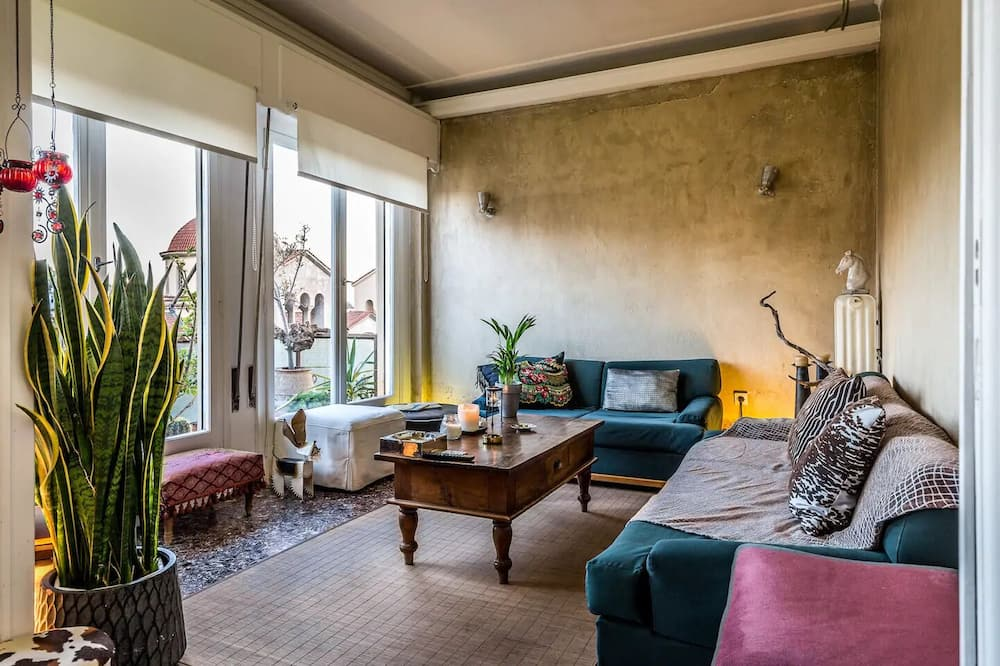Apartament, 2 sypialnie, widok na miasto - Salon