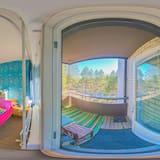 Perhehuone, 1 parisänky, Jääkaappi ja mikroaaltouuni, Näköala puutarhaan (in an Apartment) - Huone