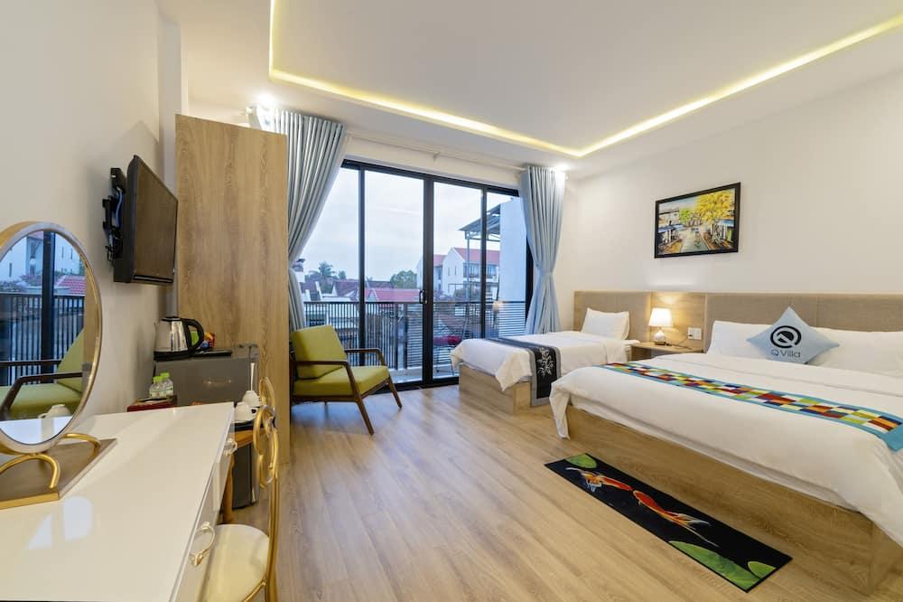 Deluxe-Dreibettzimmer, Balkon - Zimmer