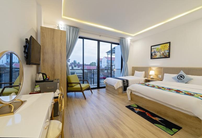 Q Villa Hoi An, Hoi An, Kamar Triple Deluks, balkon, Kamar Tamu