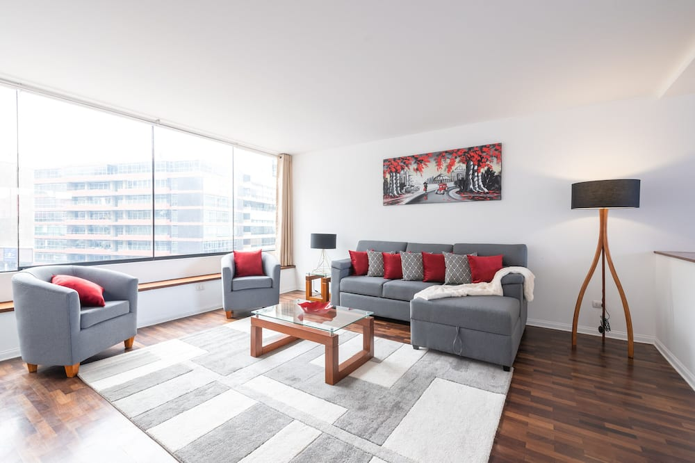 Luxusní apartmán, 2 ložnice, výhled na oceán - Obývací prostor