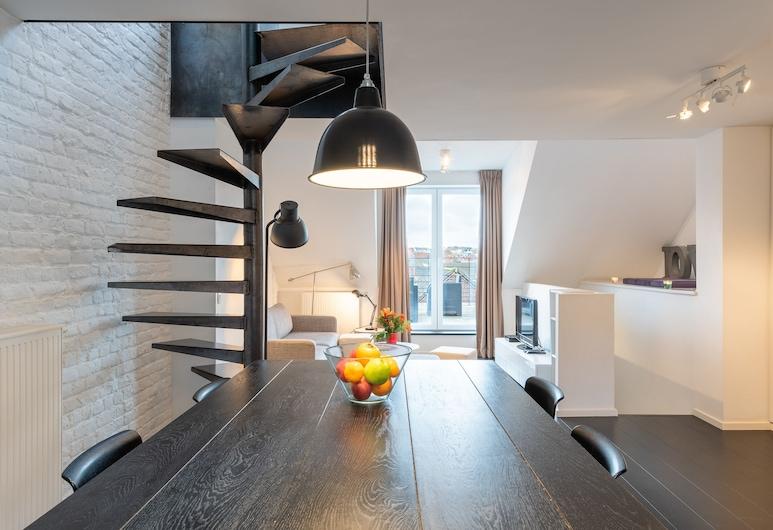 Europea Luxury Duplex Residence Flagey, Bruselas, Departamento panorámico, 1 habitación, Sala de estar