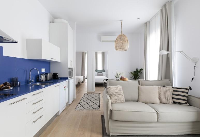 阿斯帕西奧斯威爾第公寓酒店, 巴塞隆拿, 公寓, 2 間臥室, 客廳