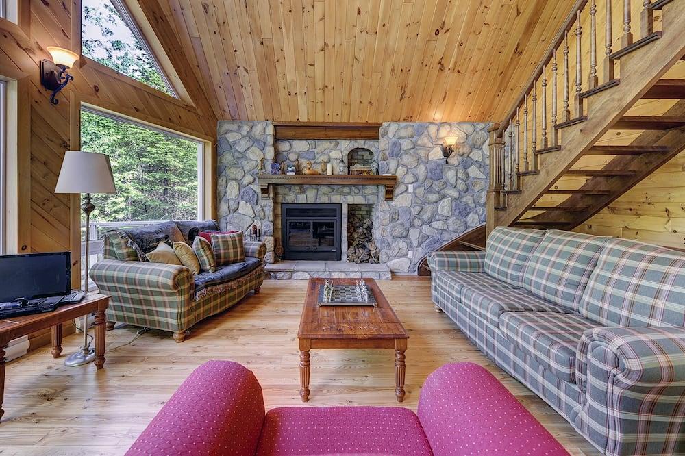 Chalet, 3 chambres, vue lac - Coin séjour