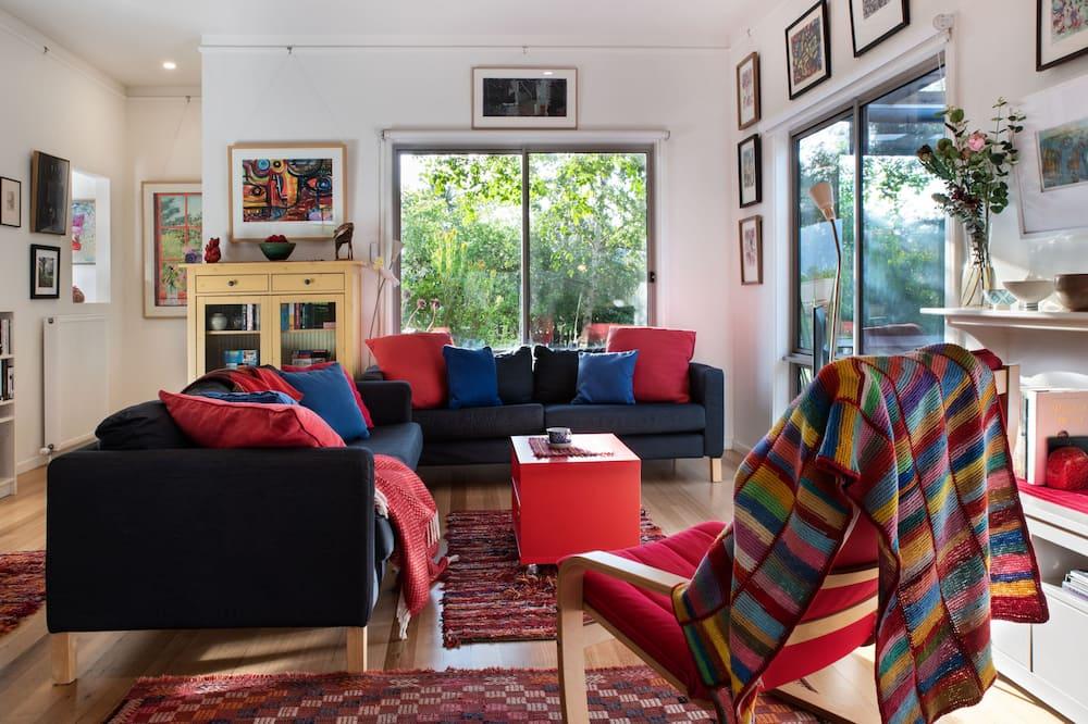 Exclusive-talo, 1 makuuhuone, Näköala puutarhaan - Oleskelualue