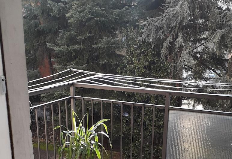 B&B La Rotonda, Bologna, Dobbeltværelse med dobbeltseng eller 2 enkeltsenge - fælles badeværelse, Altan