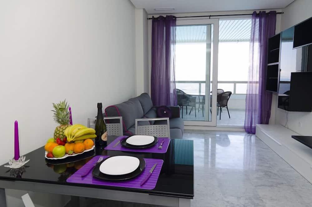 Apartman, 1 spavaća soba, pogled na more - Dnevna soba