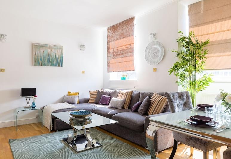 塞爾福里奇後方設計師 2 床 2 衛酒店, 倫敦, 公寓 (2 Bedrooms), 客廳