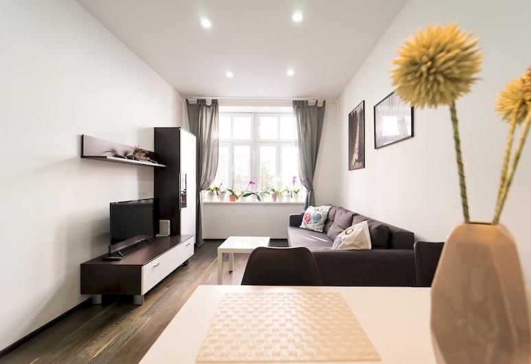 Bright and Charming Apartment Close to the Center, Viena, Apartamento (1 Bedroom), Sala