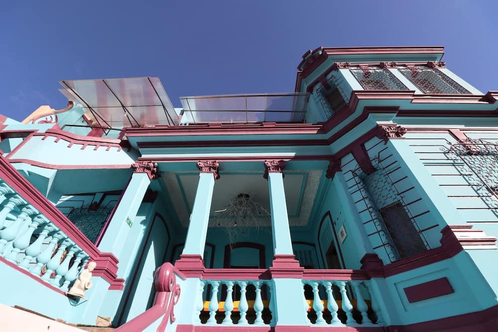 Närbild fasad