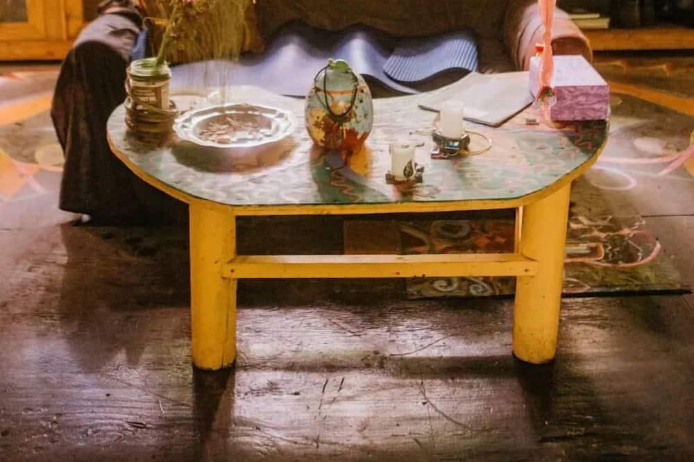 Dormitorio compartido, solo para mujeres, cocina, vista al parque - Sala de estar