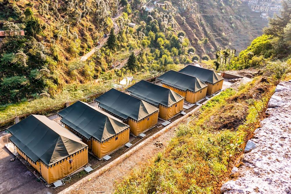 Luxusní stan - Výhled na hory