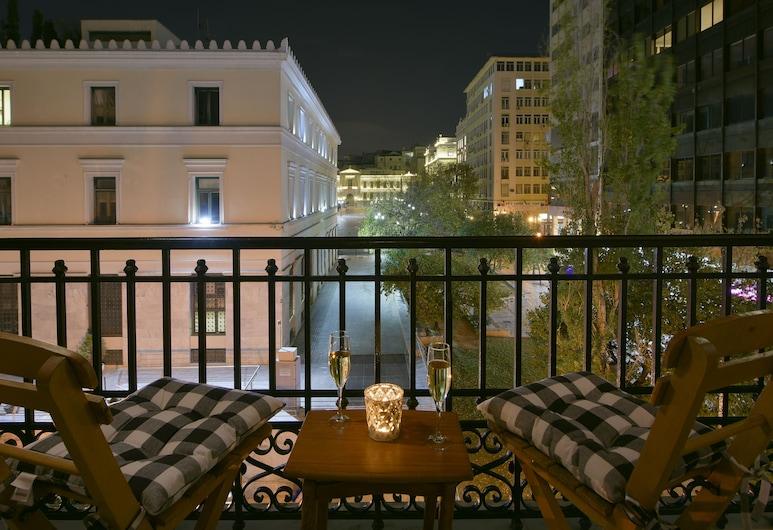 Athenian Vintage Apartments, Athén, Deluxe apartman, 2 hálószobával (Nafsika), Kilátás az erkélyről