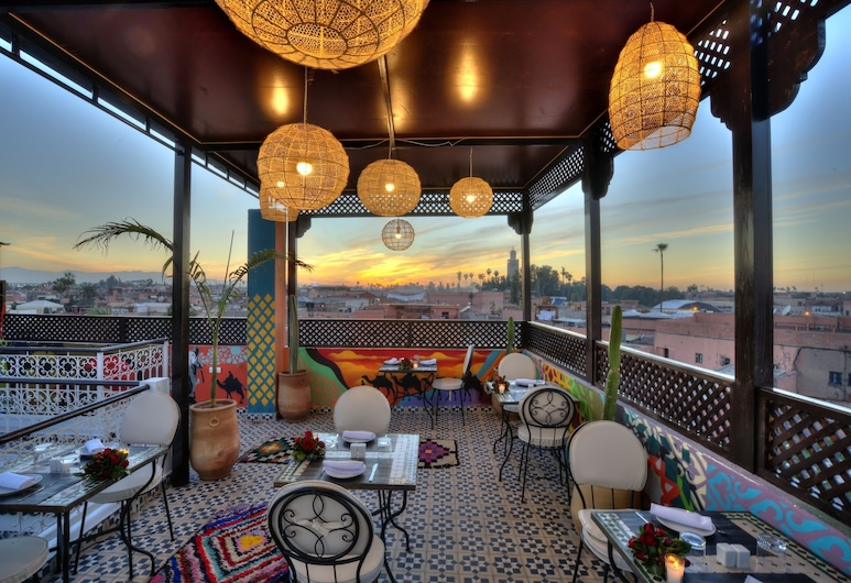 Riad Art & Emotions Boutique Hotel & Spa, Marrakech, Udendørs spisning