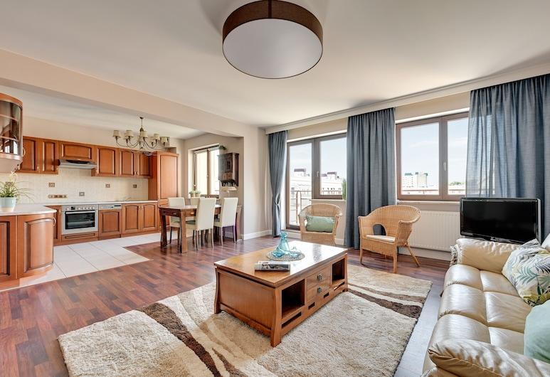 Grand Apartments - Aqua, Gdansk, Departamento familiar, Sala de estar
