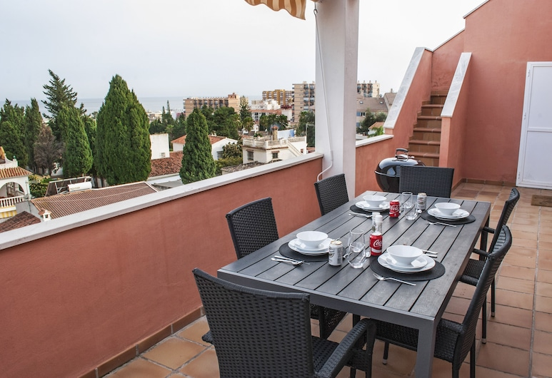 Lovely Penthouse with Sea View Ref 9, Torremolinos, Terrasse/patio