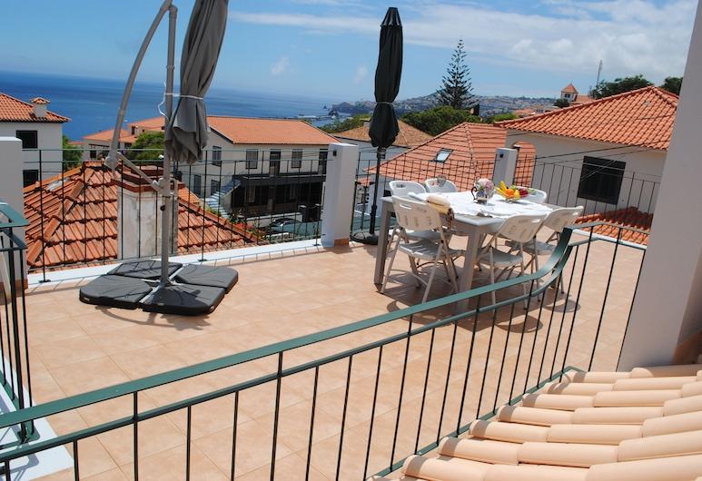 Vila Rosa, Funchal, apartman, 3 hálószobával, terasz, Terasz/udvar