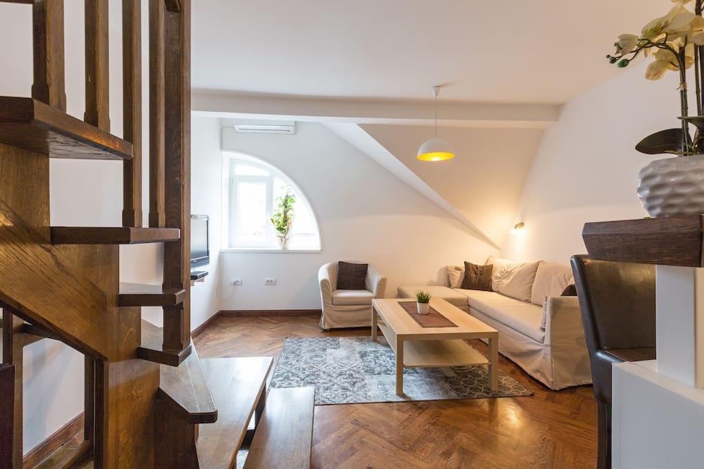 Duplex Apartment, Free Parking - Wohnzimmer