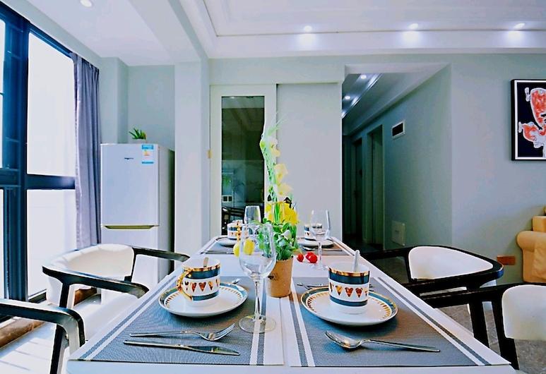 四季大家庭三大床高層景觀房, 深圳市, 標準三臥室客房, 客廳