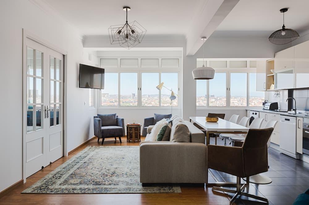 Apart Daire, 3 Yatak Odası, Şehir Manzaralı - Oturma Alanı