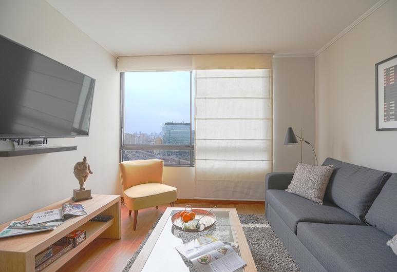 Acogedor Apartamento En El Corazón De Miraflores, Lima, Acogedor Apartamento En El Corazón De Miraflores, Woonruimte