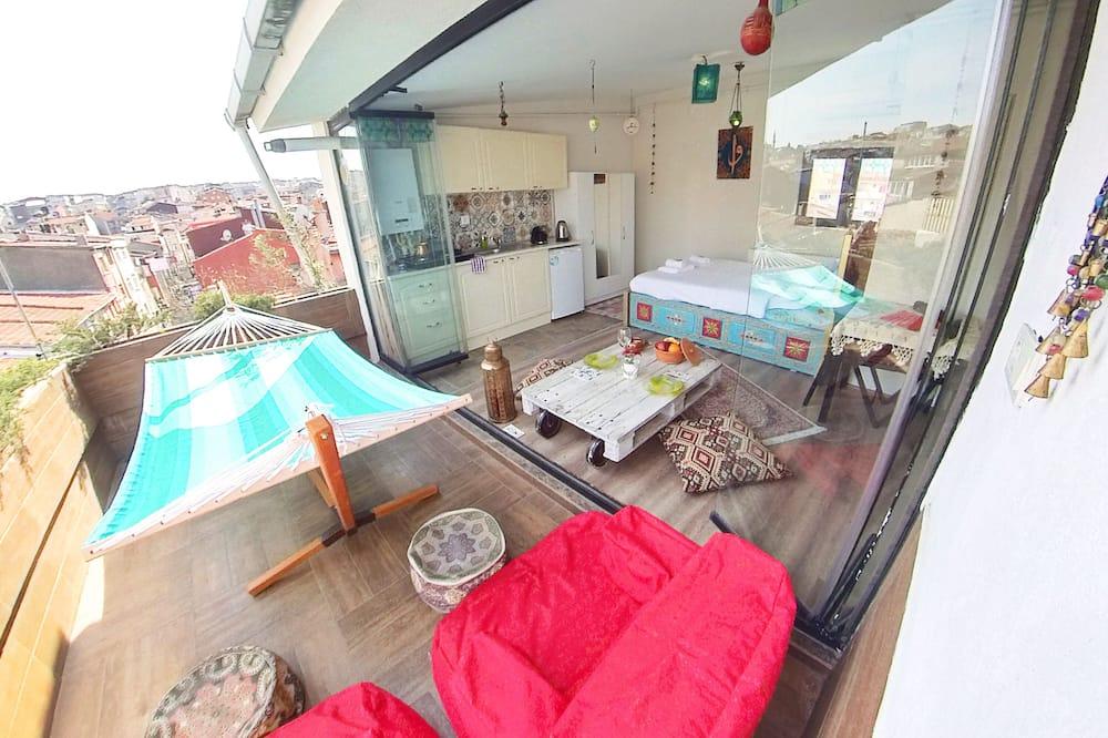Loft Romântico, 1 cama de casal, Terraço, Vista Cidade - Imagem em Destaque