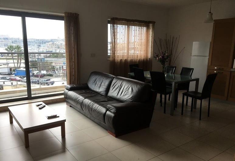 شور بريدج هاوس, الجزيرة, شقة بانوراما - غرفتا نوم, منطقة المعيشة