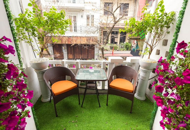 Hanoi Antique Hotel, Hanoï, Chambre Double Deluxe, balcon, Chambre
