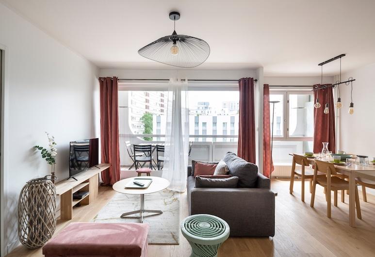Le Bora-bora, Rennes, อพาร์ทเมนท์ (3 Bedrooms), ห้องนั่งเล่น
