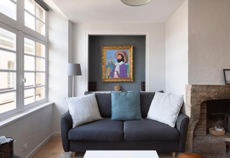 Le Corsaire, Saint-Malo, Apartment (1 Bedroom), Living Room