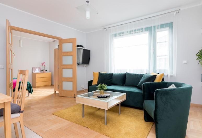 Grzybowska Green Apartment, Warszawa, Lägenhet Superior, Vardagsrum