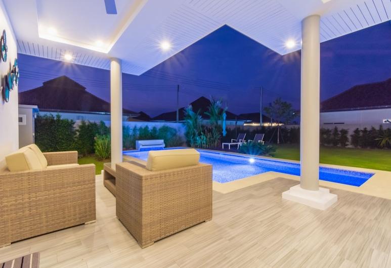 熱帶 3 房泳池別墅 MP75 酒店, Hua Hin, 陽台