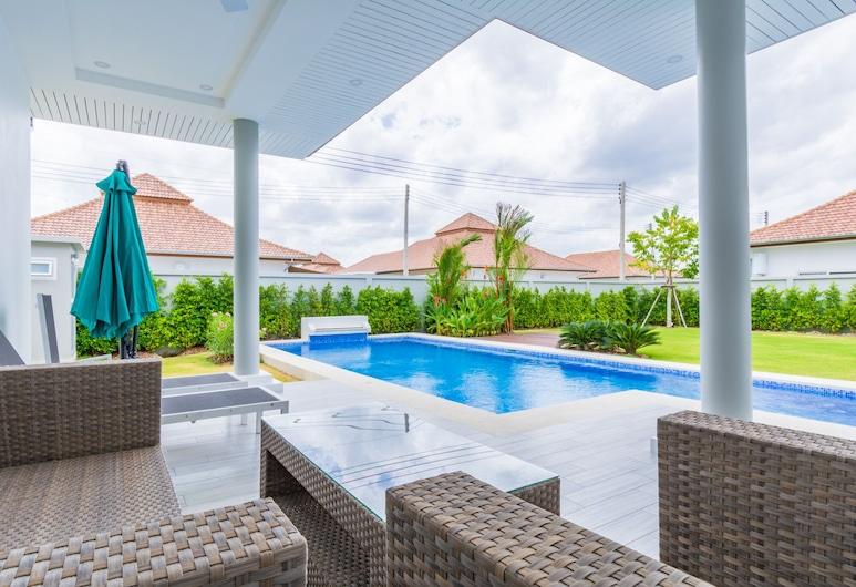 熱帶 3 房泳池別墅 MP75 酒店, Hua Hin, 家庭別墅, 陽台