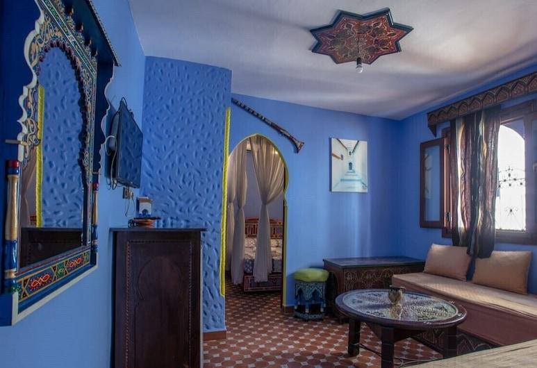 Casa El Mrabet, Chefchaouen, Comfort Suite, 1 Bedroom, Living Area