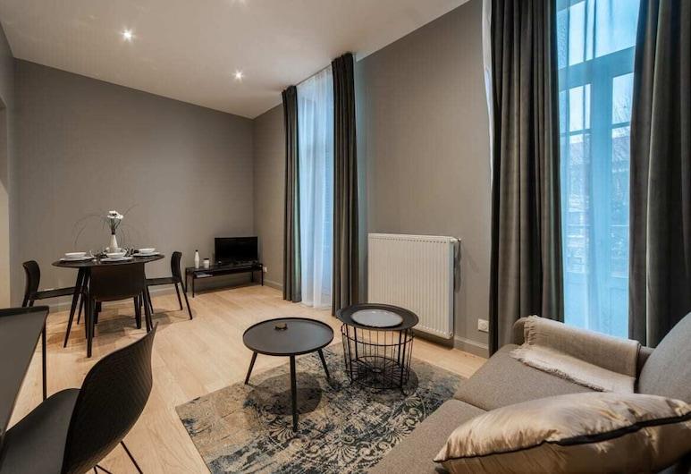Kemp Villa Rops Private Apartment, Αιξ-Λε-Μπαιν, Διαμέρισμα (1 Bedroom), Καθιστικό