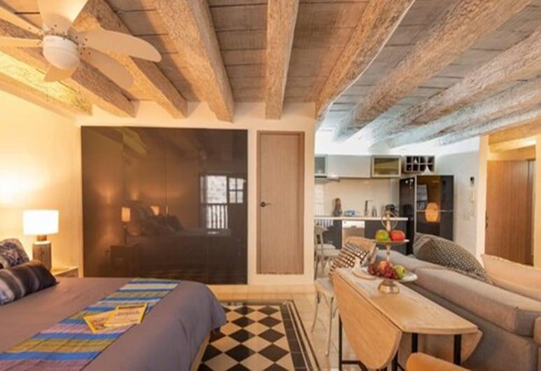 Elegant 1BR Near San Pedro Church, Cartagena, Apartment, 1 Double Bed, Room