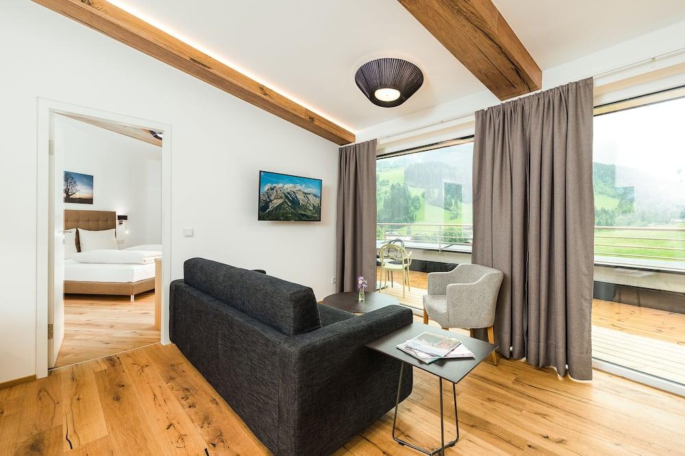 Deluxe-huoneisto, Vuoristonäköala (Not Included: Cleaning Fee 120 EUR) - Oleskelualue