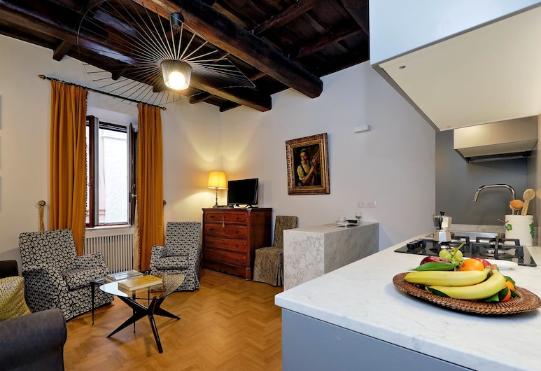 Via Vittoria - WR Apartments, Rom, Apartment, 1 Schlafzimmer (Via Vittoria), Wohnbereich