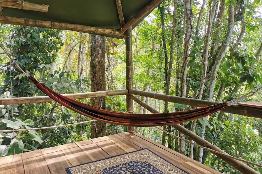 Deluxe-træhus - 1 soveværelse - bakkeudsigt - Opholdsområde
