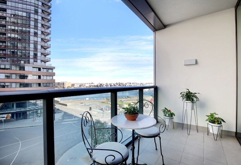 Premier Accommodation at Concavo, Docklands, Design Apartment, Balcony