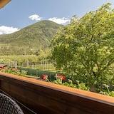 Čtyřlůžkový pokoj, výhled na hory - Balkón
