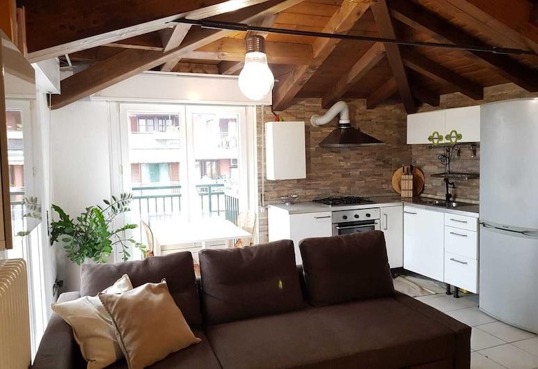 Leonardo Da Vinci Apartment, Μιλάνο, Comfort Διαμέρισμα, 1 Υπνοδωμάτιο, Μπαλκόνι, Περιοχή καθιστικού