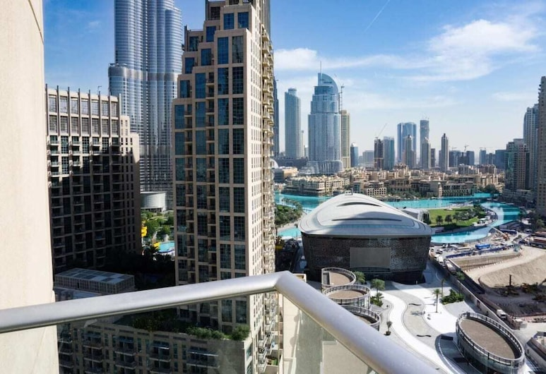 Modern Apartment Great View of Burj Khalifa!, Dubajus, Balkonas