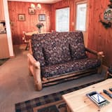 Cabin, Multiple Beds, Fireplace, Mountain View - Living Room