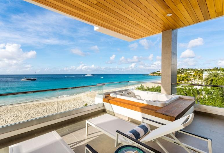 Tranquility Beach Anguilla, West End Village, Apartamento Signature, 1 habitación, bañera de hidromasaje, frente a la playa, Terraza o patio