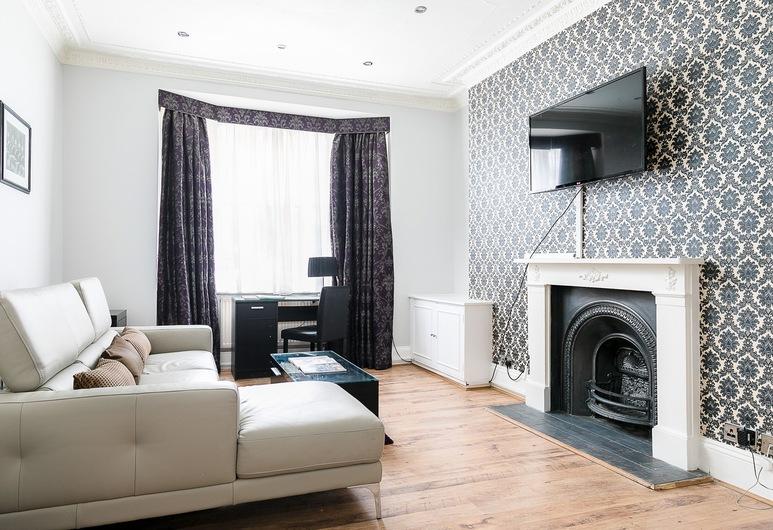 威爾貝克街公寓飯店, 倫敦, 公寓, 1 間臥室, 客廳