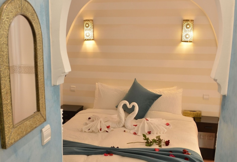 Riad Anyssa Marrakech, Marrakech, Quarto Duplo Deluxe, 1 cama queen-size, Não-fumadores, Vista para o Pátio, Quarto