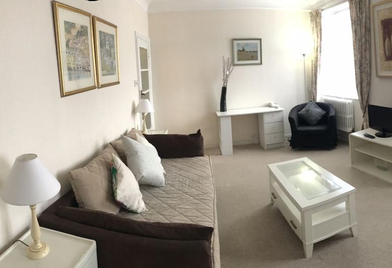Elegant & Bright English Style 1 Bed Hyde Park, Londýn, Apartmán typu Superior, soukromá koupelna, Salon