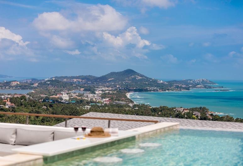 海景私人泳池海阿克 4 房別墅酒店, 蘇梅島, 舒適別墅, 客房景觀
