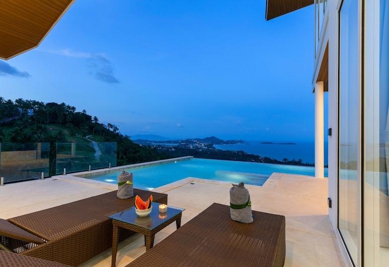 查汶海灘翡翠別墅海景和游泳池飯店, 蘇梅島, 舒適別墅, 露台